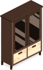 Wood-grained Cabinet