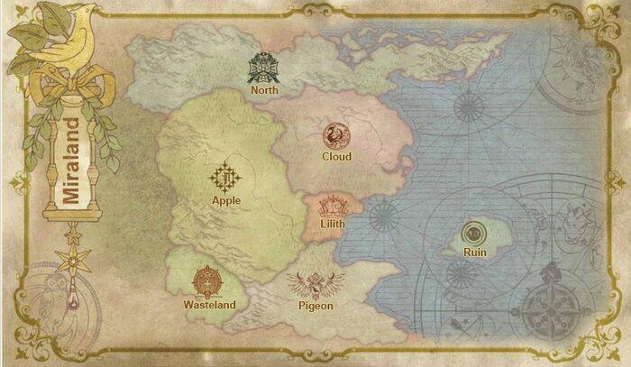Miraland Map
