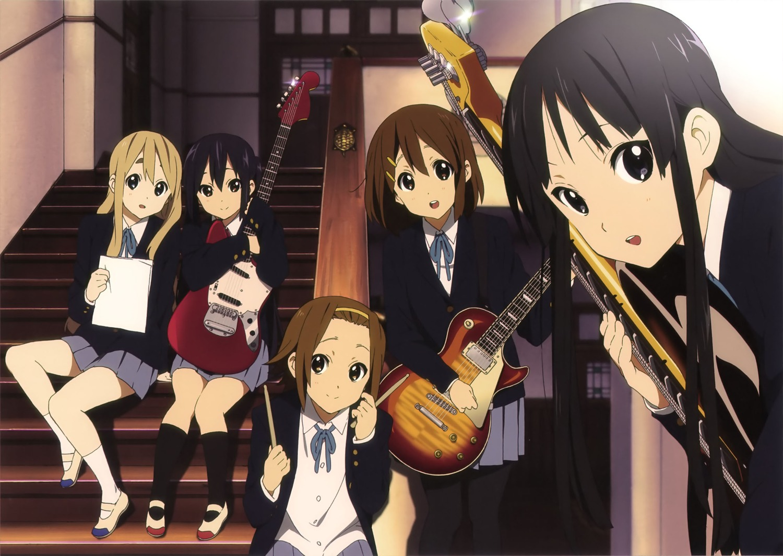 K ON Music Band Group Members Anime Wallpaper