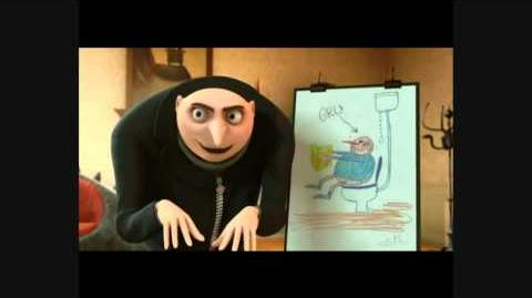 Despicable me Gru 'I sit on the toilet!'