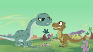 Ed stops T-rex