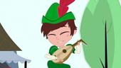 Josh playing lute