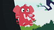Red Elephant falls down