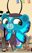 Sunil in butterfly costume