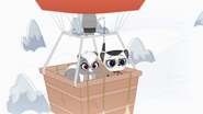Pepper and Captain in balloon