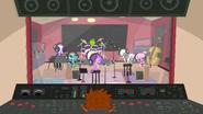 Pets in recording studio