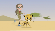 Tess with a cheetah