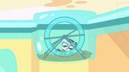 Captain on training wheel