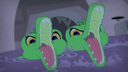 Sewer Gators mouths open