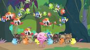 Minka and animals sing