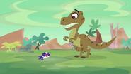 T-rex scared