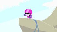 Zoe in bungee jump oufit