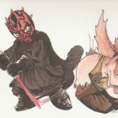 Rysunek przedstawiający pojedynek.
