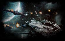 Defense Technica Background SPACE BATTLE