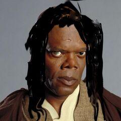 Leia Windu z profilu.