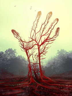 Krwiste drzewo