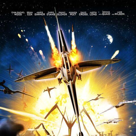 Inspiracja TIE Skyridera z Scout Fighter w plakatu Battle for Terra.