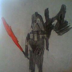 Darth Vader uszkodzony w bitwie (autor: <a href=