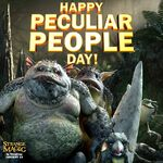 Happy Pecular People Birthday Strange Magic