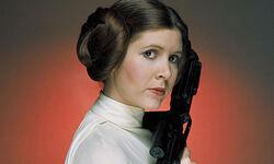 Princess Leia's characteristic hairstyle