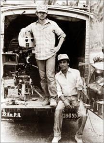 Steven Spielberg with Chandran Rutnam in Sri Lanka