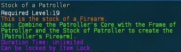 Stock of a patroller desc