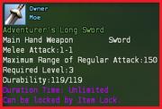 Adventurers long sword