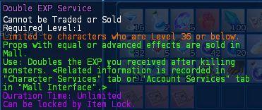 Level 31 4double exp service pics