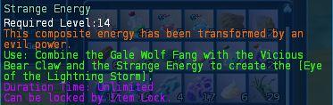 Strange energy desc