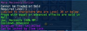 Level 15 5mana recovery potions pics