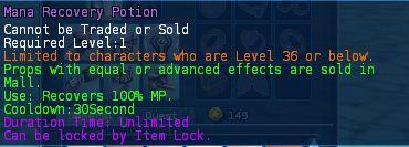 Level 10 5mana recovery potions pics
