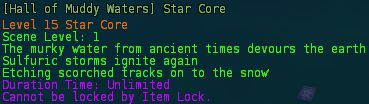 Hall of muddy water star core description