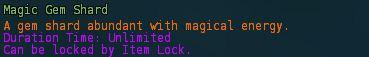 Magic gem shard desc