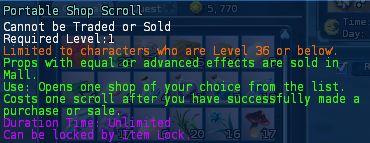 Level 14 5portable shop scroll pics