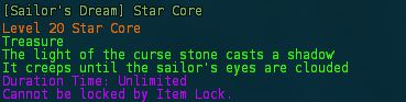 Sailors dream star core description