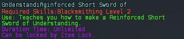 Reinforced short sword of understanding desc