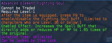 Level 36 advanced STR Element fighting souls pic2