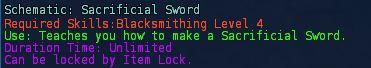Schematic sacrificial sword desc