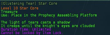 Glistening tear star core desc