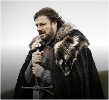 Sean Bean as Eddard Stark