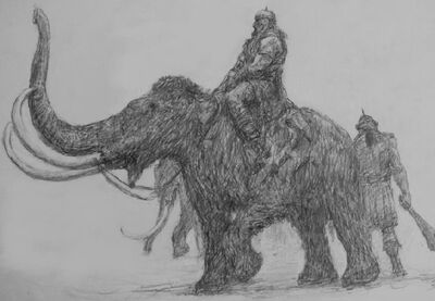 Giants Riding Mammoths