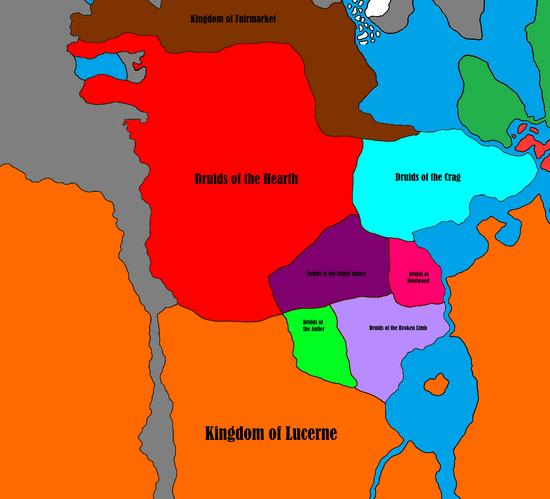 Eastern Lucerne - Druids-Lucerne War - Start