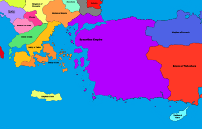 Byzantine Empire Pre Greek Expansion