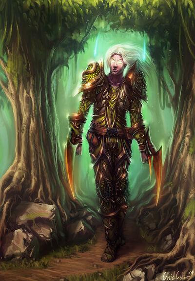 Nightelf Druid by UnidColor