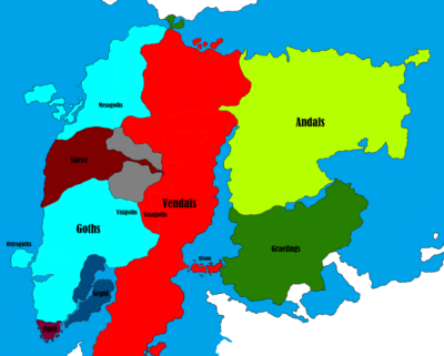Scandenavia - Pre Andal Invasion - Ethnic Breakdown