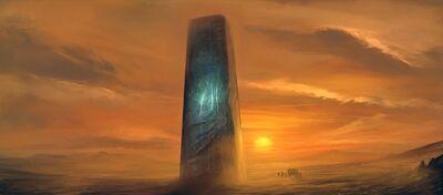 White Dovah Monolith
