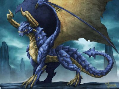 Old Blue Dragon Wallpaper ub2u