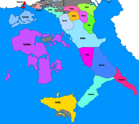Italy - Roman Empire - Provinces