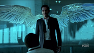 107 Lucifer in front of his wings