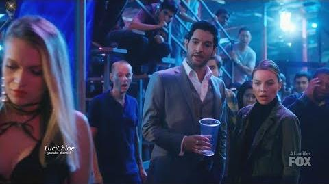 Lucifer 3x10 Chloe and Luci Chase Woman in Roller Blade Derby Season 3 Episode 10 S03E10